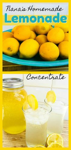 Nana's Homemade Lemonade Concentrate by The Spirited Thrifter Lemonade Concentrate Recipe, Period Cravings, Booze Drink, Homemade Lemonade, How To Eat Better, Beverages, Drinks, Smoothie Recipes, Family Meals