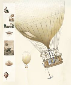 This is the Hot Air Ballon described by Jules Verne in Five Weeks in Ballon.Thanks to its extremely detail descriptions u may put together such a piece.