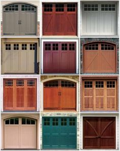 Pin By Taylor Crowley On Home Garage Door Design Garage House Barn Garage, Modern Garage Doors, Garage Door Windows, Garage Decor, Garage Door Colors, Garage Door Styles, Doors, Garage Door Types, House Exterior