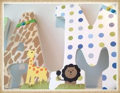 Hey, I found this really awesome Etsy listing at http://www.etsy.com/listing/152550587/boys-nursery-wall-letters-nojo-jungle