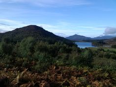 View over Loch Gynack from Pitmain, Kingussie, Scotland