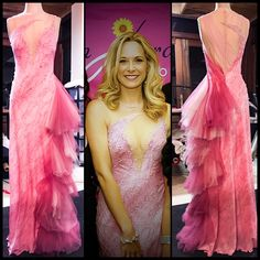 Vanessa in HV Couture for Breast Cancer Awareness Couture, Breast Cancer Awareness, One Shoulder, Formal Dresses, My Style, Fashion, Dresses For Formal, Moda, Formal Gowns