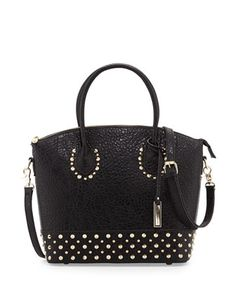 Avalon+Studded+Structured+Tote+Bag,+Black+by+Urban+Originals+at+Neiman+Marcus.