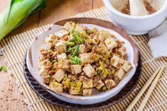 Get cooking with our top tofu recipes, including delicious breakfast scrambles, easy weeknight stir fries, vegan dinner-party dishes, and even a full holiday tofurkey. Szechuan Recipes, Tofu Recipes, Asian Recipes, Ethnic Recipes, Asian Foods, Vegetarian Recipes, Grilled Tofu, Steamed Tofu, Vegan Crockpot Lasagna