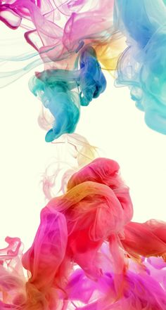 #Abstract Colorful Ink. Collection of Smokey Ink iPhone HD Wallpapers. | @mobile9 #colourful