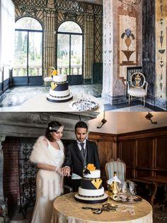 Wedding cake a piani in stile Art Decò | inspiration shoot matrimonio a tema Grande Gatsby