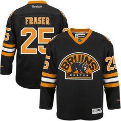 Matt Fraser Boston Bruins Reebok Alternate Premier Jersey - Black - $84.99