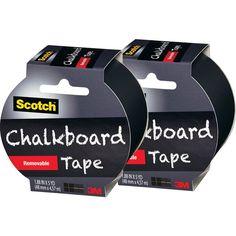 Write on the walls! Scotch Chalkboard Tape Black 2 Pack