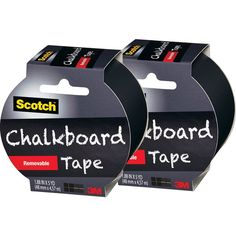 Write on the walls! Scotch Chalkboard Tape Black 2 Pack