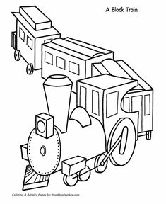 christmas train coloring pages.html