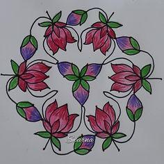 Rangoli Colours, Rangoli With Dots, Rangoli Designs, Lotus, Rooster, Youtube, Lotus Flower, Youtubers, Lily