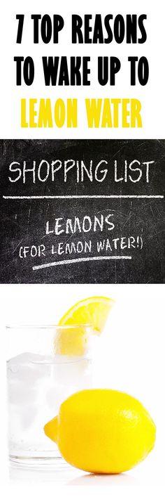 7 REASONS to wake up to LEMON WATER. #lemonwater #lemondetox #detox #livercleanse