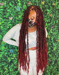 Cute Box Braids Hairstyles, Faux Locs Hairstyles, Back To School Hairstyles, Black Girls Hairstyles, Protective Hairstyles, Protective Styles, Faux Locs Styles, Fake Dreads, Crochets Braids
