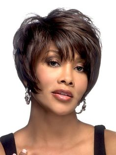 The Moore Wig by Vivica Fox, is an 8 inch pixie style with angle pointed sides. Its high heat resistant fiber not only curls well, but also keeps the curl longer to keep the hair look beautiful.