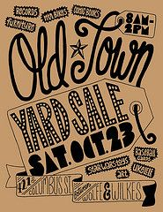 cool yard sale poster!