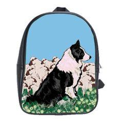 Border Collie BackPack school bag – DogDaze Designs