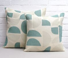 Info Specifications Scottish linen is hand screen printed by Tamasyn and her team in London. Each cushion is made up in the UK by a small British factory and stuffed using feather cushion pads. Small Cushions, Red And Teal, Cushion Pads, Textures Patterns, Screen Printing, Taupe, Textiles, Throw Pillows, Fabric
