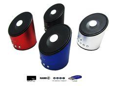 Altavoz Portátil Mini Con Radio, MicroSD, USB, MP3 y Con Batería Recargable  - https://complementoideal.com/producto/audios/altavoz-mini-con-radio-microsd-y-usb-modelo-8583/  - Altavoz Mini  con Radio, MicroSD y USB   Además con el Altavoz Mini Con Radio podrás disfrutar de todas las emisoras de la Radio FM para que no te pierdas tus programas favoritos. El Altavoz Mini Con Radio es compatible con tarjetas SD, MicroSD , reproduce tu música o la de tus am...