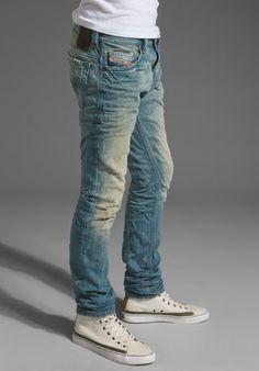 Diesel Thavar Diesel Men Jeans - Men Jeans - Ideas of Men Jeans - Diesel Thavar Diesel Men Jeans Jogg Jeans, Jeans Diesel, Denim Branding, Denim Pants, Denim Shirts, Jeans Style, Menswear, Men Casual, Mens Fashion