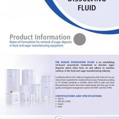 Product Information Water-oil formulation for removal of sugar deposits in food and sugar manufacturing equipment FM SUGAR DISSOLVING FLUID is an emulsifyin. http://slidehot.com/resources/tds-fm-sugar-dissolving-fluid.26183/
