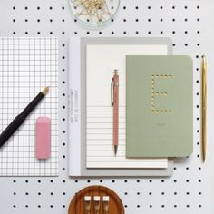 flatlay stationary pegboard background  #notebooks #homeoffice