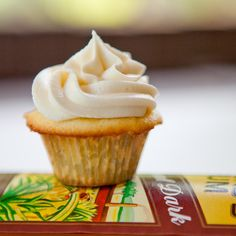 Rum Cupcakes with Caramel Rum Frosting ~ New Years Eve Party!
