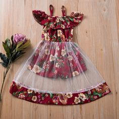 Toddler Girl Stylish Floral Allover Tulle Faux-two Onesies Girls Frock Design, Kids Frocks Design, Baby Frocks Designs, Baby Dress Design, African Dresses For Kids, Dresses Kids Girl, Kids Outfits, Kids Fashion Dresses, Cute Baby Dresses