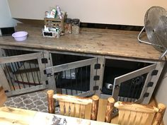 Custom Dog Kennel Triple Door by SouthernCraftedNC on Etsy