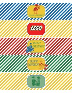 free printable template lego movie water bottle with victorious | classic lego inspired printable
