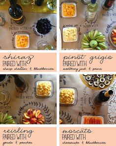Wine and cheese party planning tips butcher paper spread