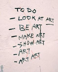 surround yourself with art