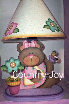 que tal esta bonita lampara qu eencontre en la web. Italian Paintings, Country Paintings, Pintura Country, Tole Painting, Painting Patterns, Cute Stickers, Country Style, Folk Art, Decoupage