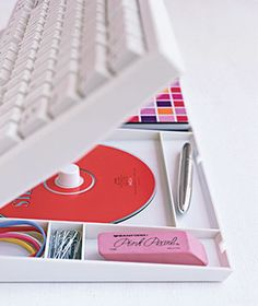 keyboard organizer. So clever! I like stuff right where you need it--but out of sight.