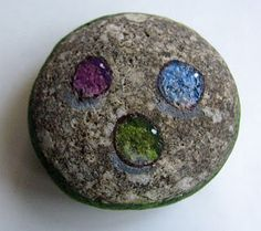 How to Paint Gems and Pearls on Rocks