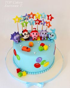 Торт Малышарики #top_cakes_odessa Creative Birthday Cakes, Bithday Cake, Food And Drink, Mary, Foods, Desserts, Cake, Strawberry Mousse, Strawberry Fruit