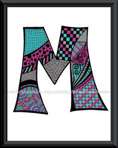 zentangle letter art