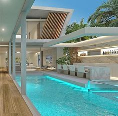 Beautiful design 😍 mansions Tune in to Beautiful Design hgtv modernmansions Tune is part of Modern mansion - Villa Design, Modern House Design, Beautiful Houses Inside, Beautiful Homes, Beautiful Beautiful, House Beautiful, Design Exterior, Backyard Pool Designs, Luxury Homes Dream Houses