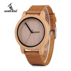BOBO BIRD Women's Bamboo Wooden Watches Japan Quartz