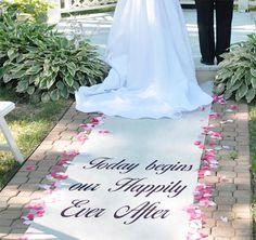 Personalized Celebrations Wedding Aisle Runner #theweddingoutlet