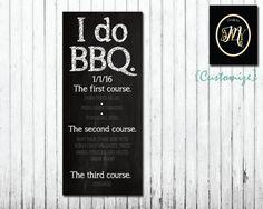 I do BBQ menus
