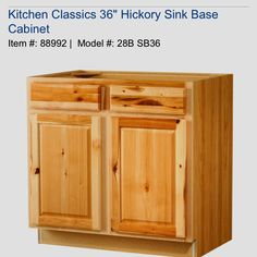1000 Images About New Kitchen Ideas On Pinterest Hickory Cabinets Hickory Kitchen Cabinets