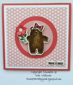 Stampin Up Occasions Catalog 2016- Lots of Bear Hugs   Kim Williams