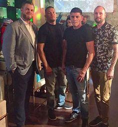 UFC Fighters Nate & Nick Diaz, NBA Player Alex Len at Sake Rok Las Vegas