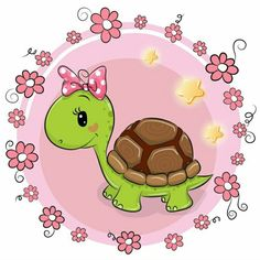 Cute Turtle Cartoon, Cute Cartoon, Doodle Art, Image Deco, Cartoon Clip, Cute Turtles, Tatty Teddy, Vintage Greeting Cards, Cute Images
