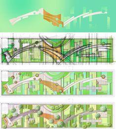 ideas for landscape architecture masterplan roof gardens Landscape Model, Landscape Design Plans, Landscape Architecture Design, Landscape Sketch, Urban Planning, Garden Planning, Birmingham, Garden Design, Layout