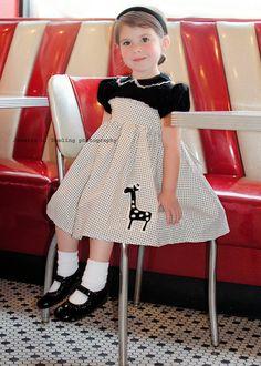 Retro 1950s Pretty Party Dress children girls by faithworks4u