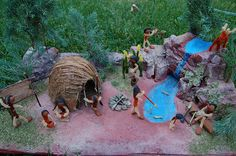 The Eastern Woodlands Indian Diorama History Projects, School Projects, Projects For Kids, Kids Crafts, Cree Indians, Native American Indians, Chumash Indians, Diorama Supplies, Delaware Indians