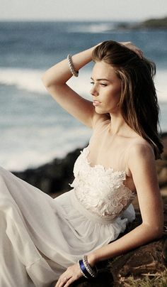Stunning sheer neckline wedding dress with invisible mesh chest and sheer lace detailing, dreamy silk chiffon skirt on Etsy, $1,132.08