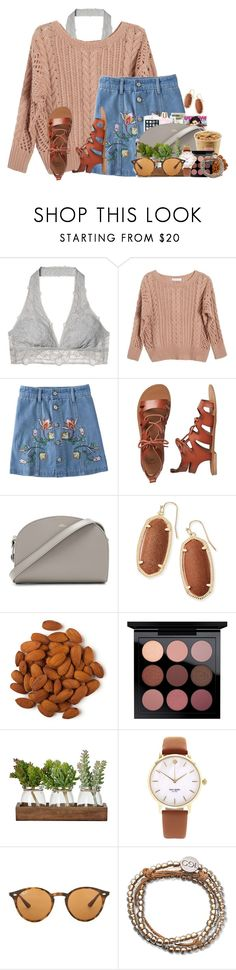 """""""Y'all I'm SO ready for thanksgiving break"""" by annaewakefield ❤ liked on Polyvore featuring Victoria's Secret, Ryan Roche, Gap, A.P.C., Kendra Scott, Kate Spade, Ray-Ban and 100 Good Deeds"""