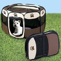 Outdoor Dog Pens - Portable Doggie Play Pen Small Size by JSNY ** Want to know more, click on the image. (This is an Amazon affiliate link)